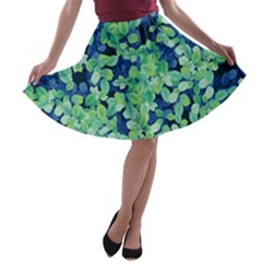Moonlight On The Leaves A Line Skater Skirt