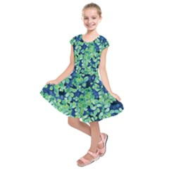 Moonlight On The Leaves Kids  Short Sleeve Dress by jumpercat