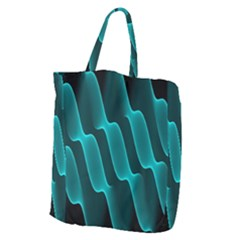 Background Light Glow Blue Green Giant Grocery Zipper Tote