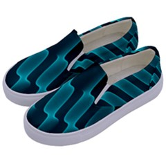 Background Light Glow Blue Green Kids  Canvas Slip Ons by Nexatart