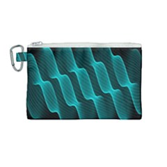 Background Light Glow Blue Green Canvas Cosmetic Bag (medium)