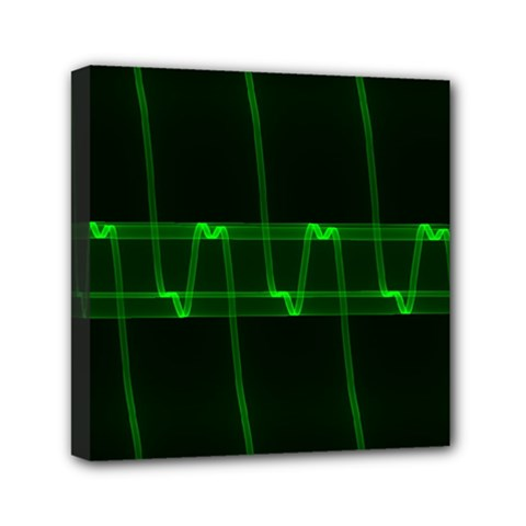 Background Signal Light Glow Green Canvas Travel Bag by Nexatart