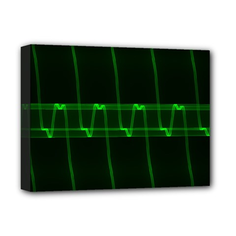 Background Signal Light Glow Green Deluxe Canvas 16  X 12   by Nexatart