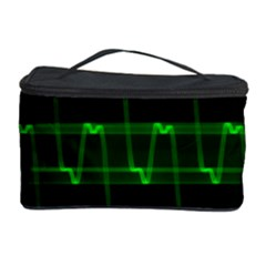 Background Signal Light Glow Green Cosmetic Storage Case by Nexatart
