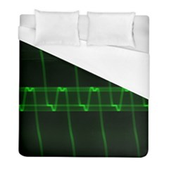 Background Signal Light Glow Green Duvet Cover (full/ Double Size)