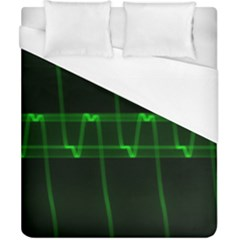Background Signal Light Glow Green Duvet Cover (california King Size)