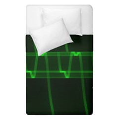 Background Signal Light Glow Green Duvet Cover Double Side (single Size)