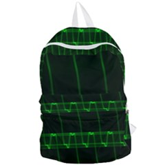 Background Signal Light Glow Green Foldable Lightweight Backpack by Nexatart