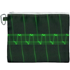 Background Signal Light Glow Green Canvas Cosmetic Bag (xxxl) by Nexatart
