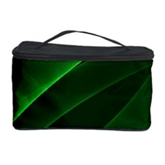 Background Light Glow Green Cosmetic Storage Case by Nexatart
