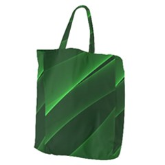 Background Light Glow Green Giant Grocery Zipper Tote