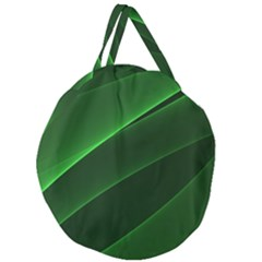 Background Light Glow Green Giant Round Zipper Tote