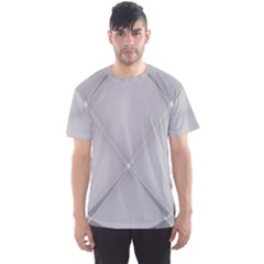 Background Light Glow White Grey Men s Sports Mesh Tee