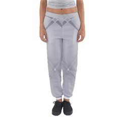 Background Light Glow White Grey Women s Jogger Sweatpants