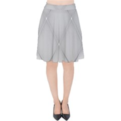 Background Light Glow White Grey Velvet High Waist Skirt