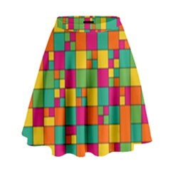 Abstract Background Abstract High Waist Skirt