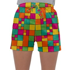 Abstract Background Abstract Sleepwear Shorts