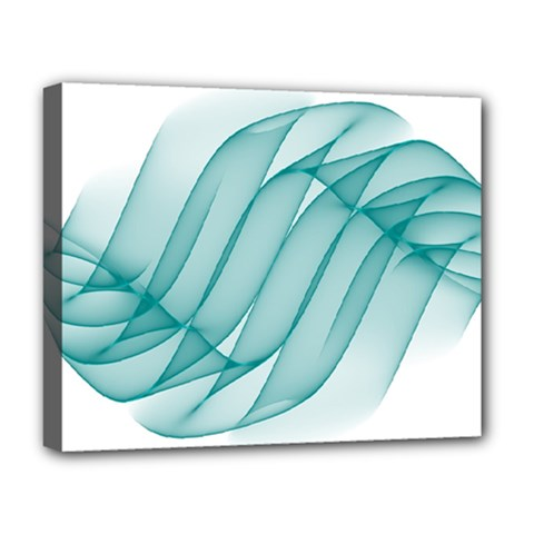 Background Light Glow Blue Deluxe Canvas 20  X 16   by Nexatart