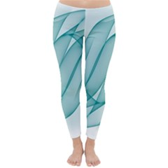 Background Light Glow Blue Classic Winter Leggings