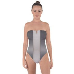 Wall Steel Ivory Creative Texture Tie Back One Piece Swimsuit