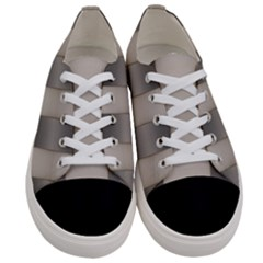 Wall Steel Ivory Creative Texture Women s Low Top Canvas Sneakers