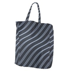 Metal Steel Stripped Creative Giant Grocery Zipper Tote