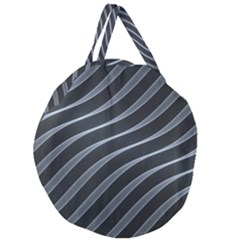 Metal Steel Stripped Creative Giant Round Zipper Tote