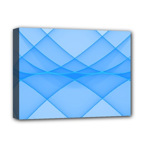 Background Light Glow Blue Deluxe Canvas 16  X 12   by Nexatart