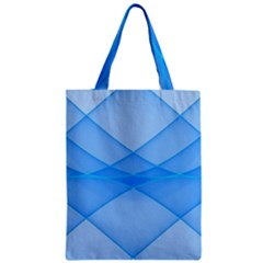 Background Light Glow Blue Zipper Classic Tote Bag by Nexatart