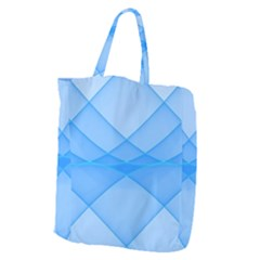 Background Light Glow Blue Giant Grocery Zipper Tote