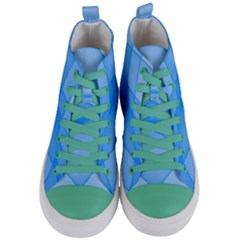 Background Light Glow Blue Women s Mid Top Canvas Sneakers