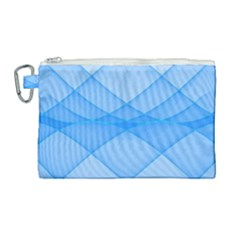 Background Light Glow Blue Canvas Cosmetic Bag (large) by Nexatart