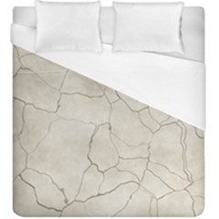 Background Wall Marble Cracks Duvet Cover (king Size)