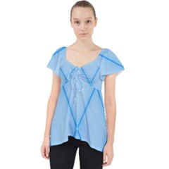 Background Light Glow Blue Lace Front Dolly Top
