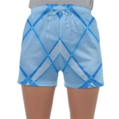 Background Light Glow Blue Sleepwear Shorts