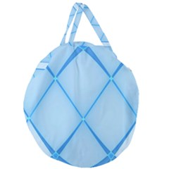 Background Light Glow Blue Giant Round Zipper Tote