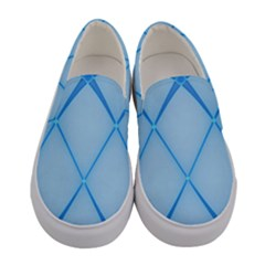 Background Light Glow Blue Women s Canvas Slip Ons