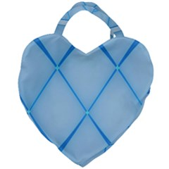 Background Light Glow Blue Giant Heart Shaped Tote by Nexatart
