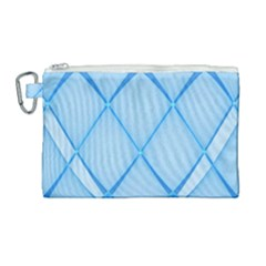Background Light Glow Blue Canvas Cosmetic Bag (large)