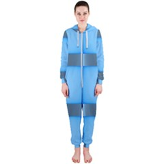 Wall Blue Steel Light Creative Hooded Jumpsuit (ladies)