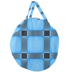 Wall Blue Steel Light Creative Giant Round Zipper Tote