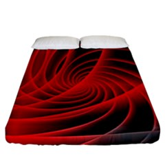 Red Abstract Art Background Digital Fitted Sheet (california King Size)