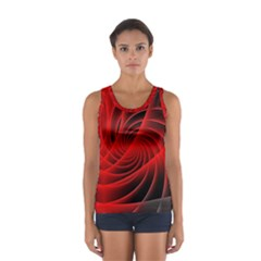 Red Abstract Art Background Digital Sport Tank Top