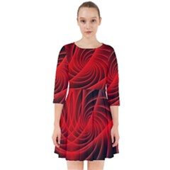 Red Abstract Art Background Digital Smock Dress