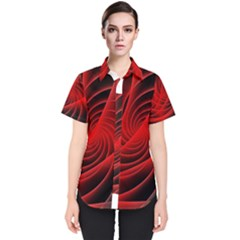 Red Abstract Art Background Digital Women s Short Sleeve Shirt