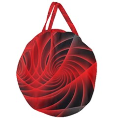 Red Abstract Art Background Digital Giant Round Zipper Tote