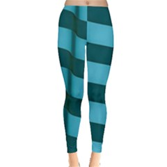 Curtain Stripped Blue Creative Leggings