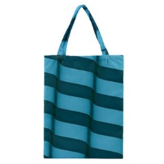 Curtain Stripped Blue Creative Classic Tote Bag