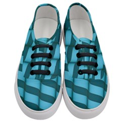 Curtain Stripped Blue Creative Women s Classic Low Top Sneakers