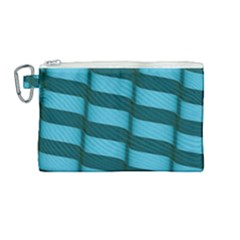 Curtain Stripped Blue Creative Canvas Cosmetic Bag (medium)